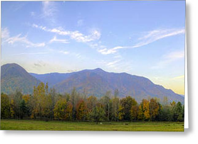 Tennessee Farm Greeting Cards - Dawn and its Reflection at Cades Cove Greeting Card by Steve Samples