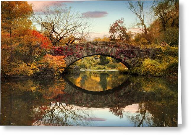 Bridge Greeting Cards - Dawn at Gapstow Greeting Card by Jessica Jenney