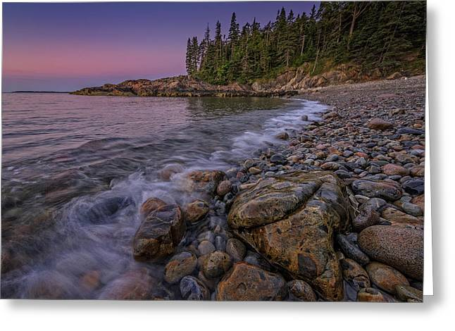 Maine Beach Greeting Cards - Dawn at Little Hunters Beach Greeting Card by Rick Berk