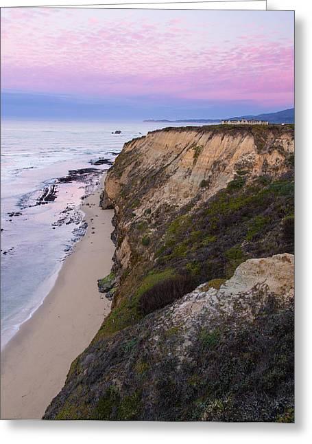 Half Moon Bay Greeting Cards - Dawn at Miramontes Point Greeting Card by Adam Pender
