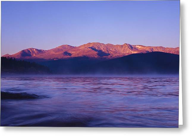 Mt. Massive Photographs Greeting Cards - Dawn at Turquoise Lake Greeting Card by Amy Kesic