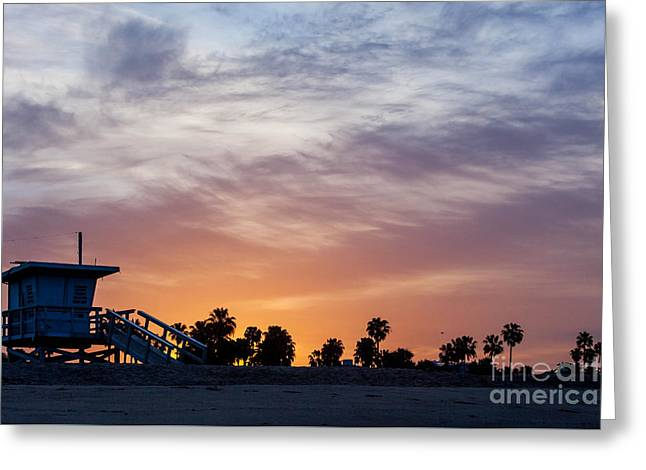 Dawn At Venice Beach Greeting Card by Art Block Collections