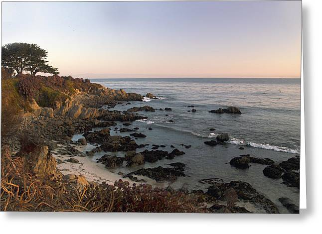 Sunrise Over California Greeting Cards - Dawn Awakening Sunrise At Pacific Grove Greeting Card by Barbara Snyder