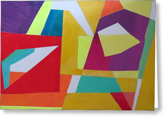 Diane Fine Greeting Cards - Abstract Angles VII Greeting Card by Diane Fine