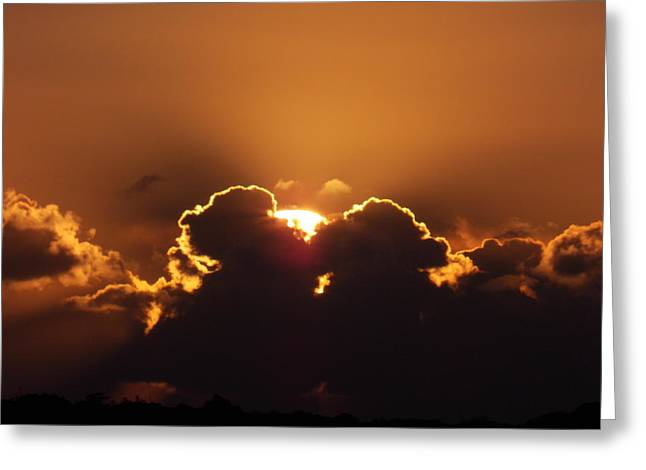 Moody Pyrography Greeting Cards - Dawn Cloudscape 2 Greeting Card by Matt Swann
