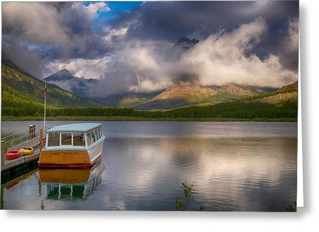 Boats At Dock Greeting Cards - Dawn Delight Greeting Card by Rob Wilson