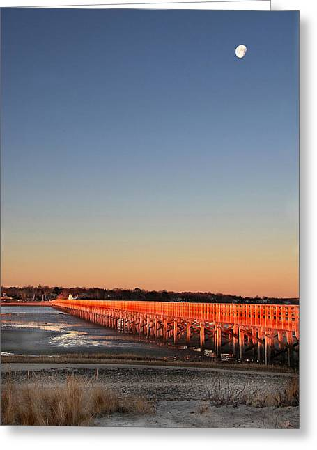 Duxbury Greeting Cards - Dawn Glows on Powder Point Duxbury Greeting Card by Steven David Roberts