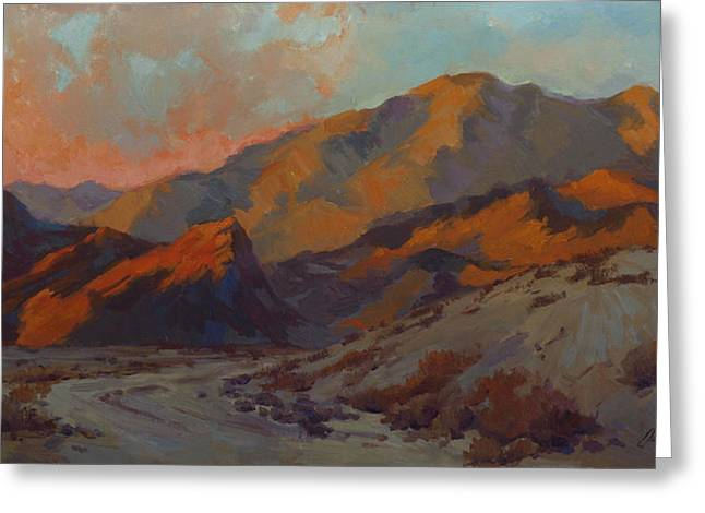 Dawn Paintings Greeting Cards - Dawn in La Quinta Cove Greeting Card by Diane McClary