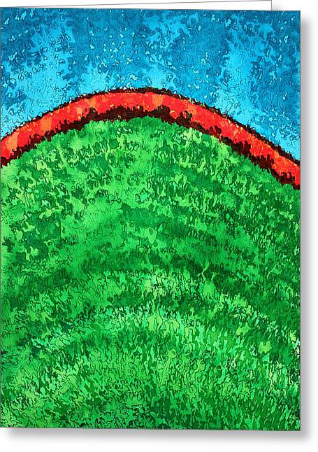 Unity Consciousness Greeting Cards - Dawn Is Coming original painting Greeting Card by Sol Luckman