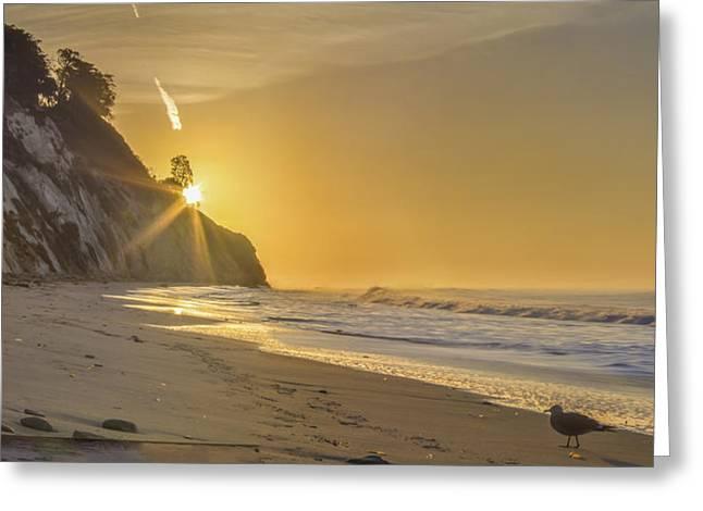Santa Barbara Greeting Cards - Dawn Greeting Card by Jeremy Jensen