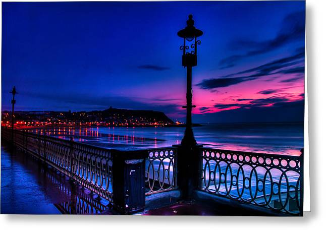 Recently Sold -  - North Sea Greeting Cards - Dawn Lamp Greeting Card by Cliff Miller