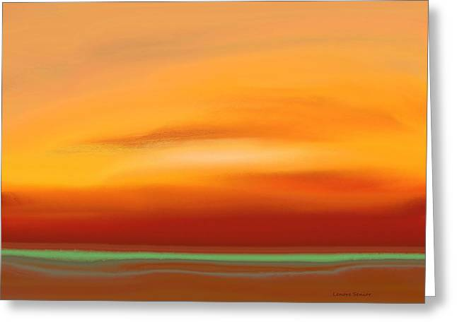 Abstract Expressionist Greeting Cards - Dawn Greeting Card by Lenore Senior