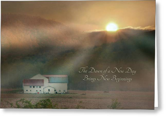 Pa Barns Greeting Cards - Dawn Greeting Card by Lori Deiter