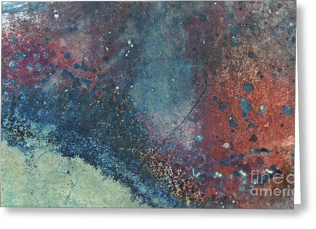 Industrial Background Greeting Cards - Dawn of Aurora Abstract Greeting Card by Lee Craig