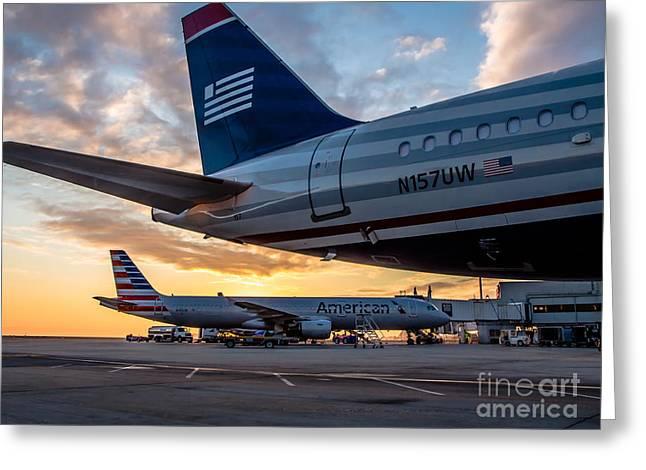 American Airways Greeting Cards - Dawn Of Change Greeting Card by Alex Esguerra