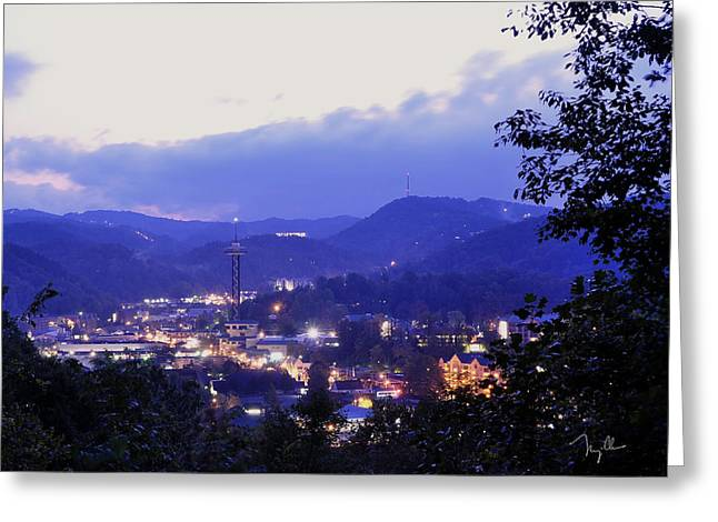 Dawn of Gatlinburg Greeting Card by Nian Chen
