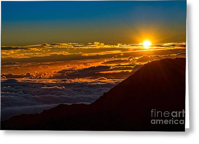 Above The Clouds Greeting Cards - Dawn of Time Greeting Card by Jamie Pham
