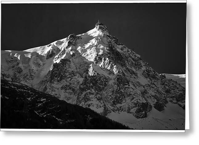 Midi Greeting Cards - Dawn on Aiguille du Midi Greeting Card by Adele Buttolph
