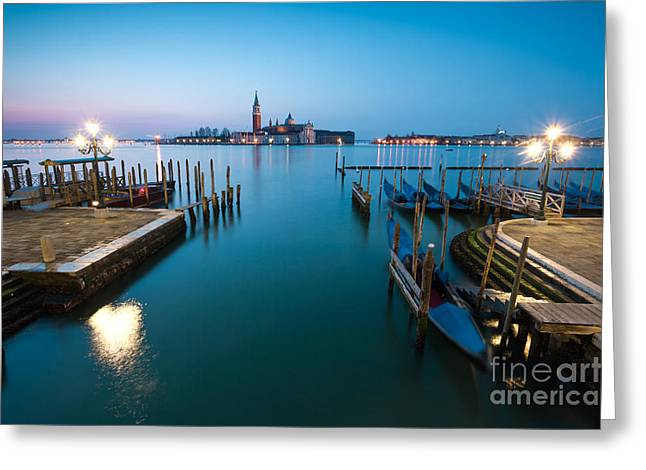 Long Street Greeting Cards - Dawn on the blue lagoon in Venice Greeting Card by Matteo Colombo