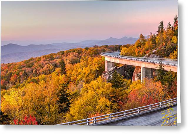 Scenic Drive Greeting Cards - Dawn on the Blue Ridge Parkway Greeting Card by Pierre Leclerc Photography