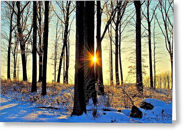 Yes Greeting Cards - Dawn or Dusk You Decide Greeting Card by Frozen in Time Fine Art Photography