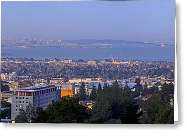 Uc California Greeting Cards - Dawn Over Berkeley Greeting Card by Nomad Art And  Design