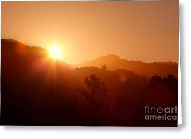 Dawn Over Calistoga Greeting Card by Posterity Productions