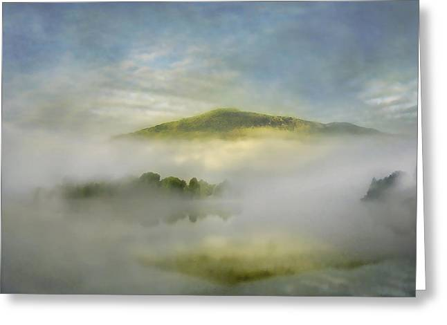 Pink Black Tree Rainbow Photographs Greeting Cards - Dawn over Lake Grasmere Greeting Card by Adrian Campfield