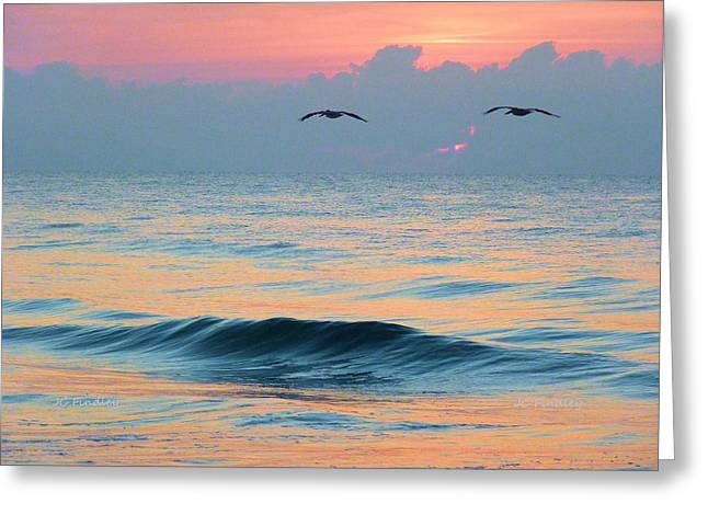 Wrightsville Beach Greeting Cards - Dawn Patrol Greeting Card by JC Findley