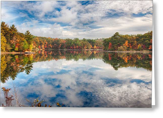 Folgers Greeting Cards - Dawn reflection of fall colors Greeting Card by Jeff Folger