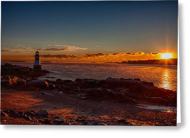 Dawn rises Greeting Card by Jeff Folger