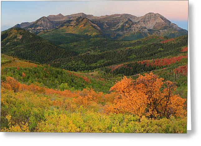 Fall Splendor Greeting Cards - Dawn sky in the Wasatch Back. Greeting Card by Johnny Adolphson