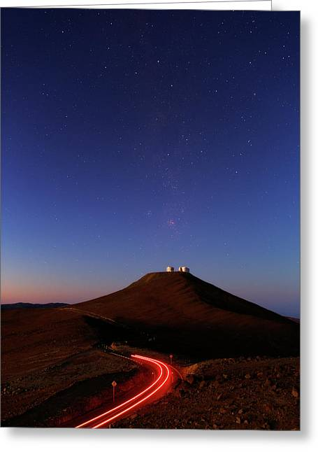 Dawn Sky Over Paranal Observatory Greeting Card by Babak Tafreshi