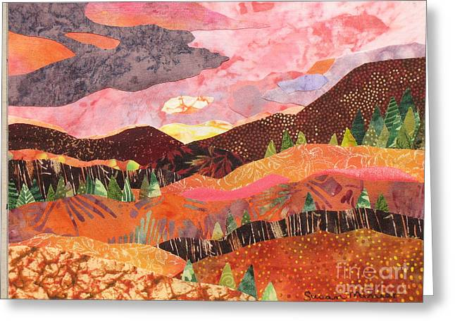 Earthtone Colored Art Greeting Cards - Dawn Greeting Card by Susan Minier