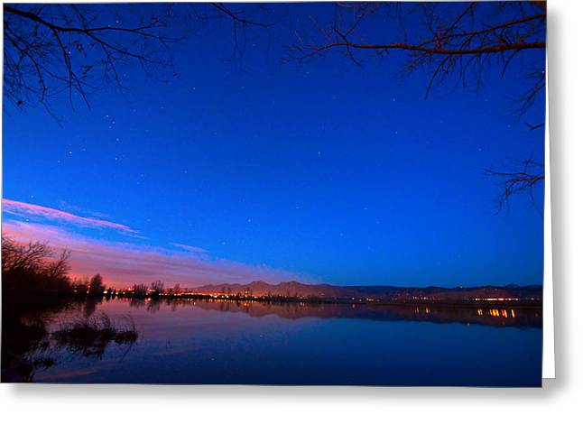 Starry Reflections Greeting Cards - Dawn The Beginning Of The Twilight  Greeting Card by James BO  Insogna