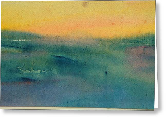 Nature Abstracts Greeting Cards - Dawn Greeting Card by Tolere