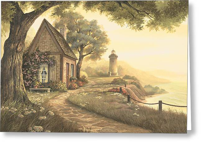 Warm Landscape Greeting Cards - Dawns Early Light Greeting Card by Michael Humphries