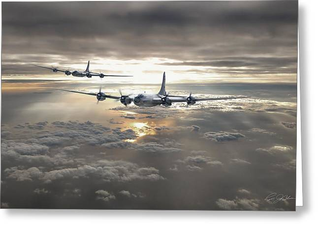 Enola Gay Greeting Cards - Dawns Early Light Greeting Card by Peter Chilelli