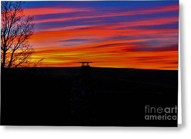 Wyoming Greeting Cards - Dawns thin veil Greeting Card by Wesley Hahn