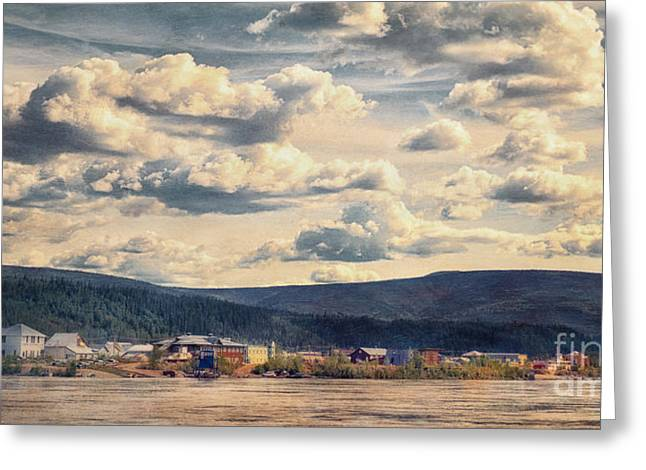 Touristic Greeting Cards - Dawson City Greeting Card by Priska Wettstein