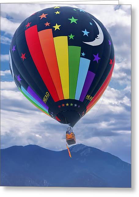 Day And Night - Hot Air Balloon Greeting Card by Nikolyn McDonald