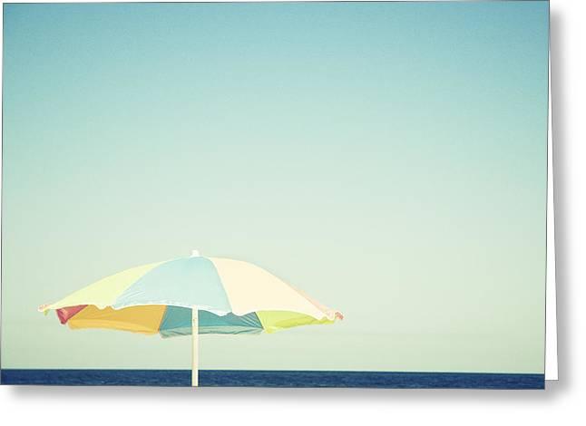 Day At The Beach Greeting Card by Carolyn Cochrane