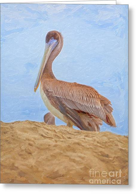 Top Seller Greeting Cards - Day at the Beach Greeting Card by David Millenheft