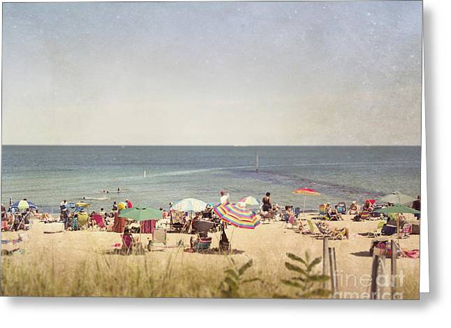Day At The Beach Greeting Card by Jillian Audrey Photography