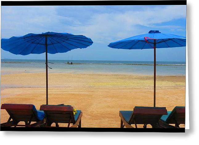 China Beach Greeting Cards - Day at the Beach Greeting Card by Tammy Goetz