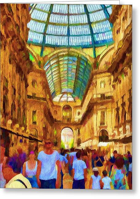 Jeff Greeting Cards - Day at the Galleria Greeting Card by Jeff Kolker
