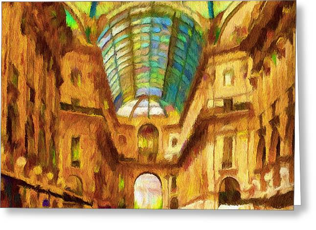 Day at the Galleria Greeting Card by Jeff Kolker