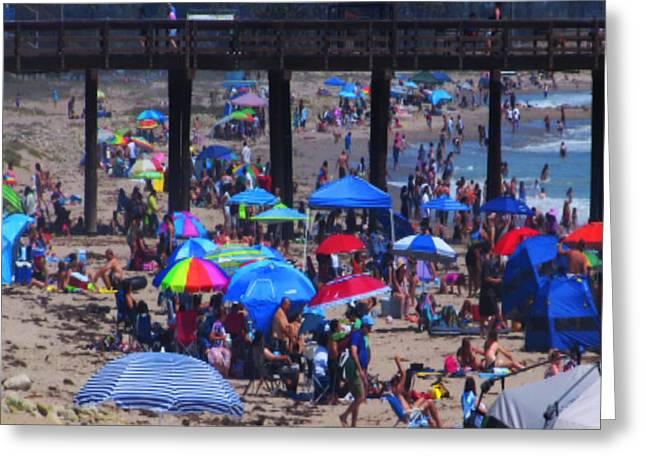 Ventura California Greeting Cards - Day at the Ventura beach Greeting Card by Gary Henderson