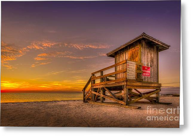 Sea Platform Greeting Cards - Day Before Spring Break Greeting Card by Marvin Spates