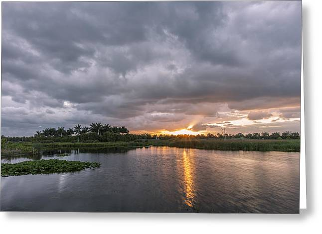 Cay Greeting Cards - Day Beginning Greeting Card by Jon Glaser